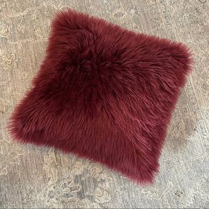 Target Maroon Faux Fur Statement Pillow
